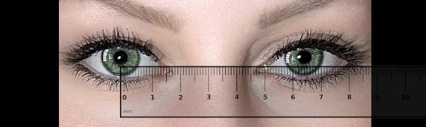 Měření očního rozestupu - PD